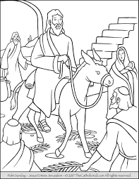 Make a holy week banner. Palm Sunday Coloring Page