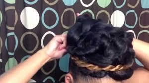 Black Braided Bun Hairstyles Natural Hairstyle Tutorial Elegant Goddess Bun Updo Using