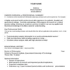 Template For Writing A Resumes Resume Samples For Graduate School Application Academic Template