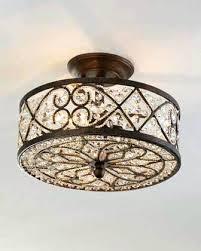 crystal flower flush mount light fixture