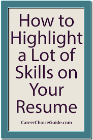 how to show a lot of skills on your resume vocational counselor resume