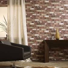 red is associated with that wow factor many times in interior design and it s no diffe here red brick wallpaper is perfect to e up a small space