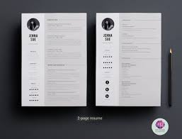 2 Page Cv Template Minimal 2 Page Resume Design 2 Page Cv Template Cover