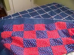 Rag Quilts - How to make a Denim Rag Quilt | FeltMagnet & Denim Rag Quilt Adamdwight.com