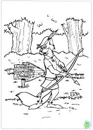 Small Picture Robin Hood Coloring page DinoKidsorg