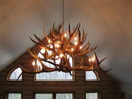 fancy real antler chandelier 34 elk md1