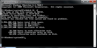 chkdsk mand to fix corrupted sd card