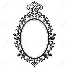 mirror clipart black and white. pin elegance clipart black and white #5 mirror