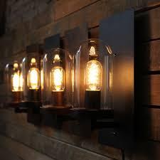 rustic bedroom lighting. iron glass wall lamp vintage loft bedroom lights american rustic bar bed lightingin lamps from u0026 lighting on aliexpresscom alibaba
