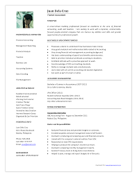 Cover Letter Resume Template Accountant Resume Template Staff