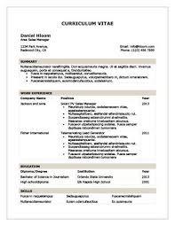 Chronological Resume By Hloom Com Resume Template Free