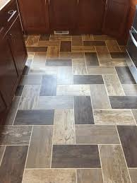 custom herringbone install of alterna tile winnipeg mb