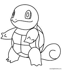 Collect pocket monster pictures of sun moon, fastest, starters and alphabets, too! Squirtle Coloring Page Pokemon