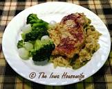 baked pork chops with vegetable rice