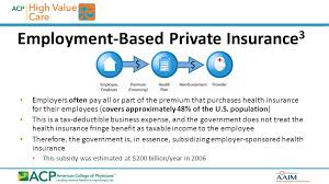 employment based private insurance 3 employers often pay all or part of the premium that