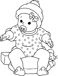 Small Picture Coloring Pages Enchanting Baby Coloring Pages Baby Doll Coloring