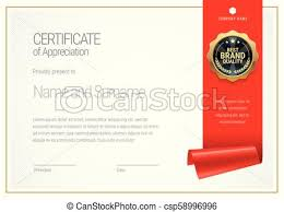 Gift Certificate Template With Logo Certificate Template Diploma Of Modern Design Or Gift Certificate
