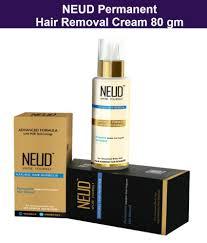 neud natural hair inhibitor permanent hair removal cream 80 gm face body neud natural hair inhibitor permanent hair removal cream 80 gm face