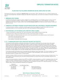Free Employee Termination Notice Form | Templates At ...