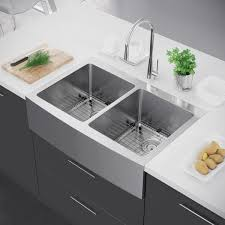 stainless steel apron sink. Exclusive Heritage 33 22 Double Bowl 5050 Stainless Steel Kitchen Farmhouse Apron Front And Sink