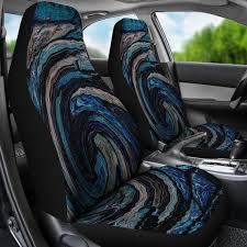 abstract tie dye swirl design car seat