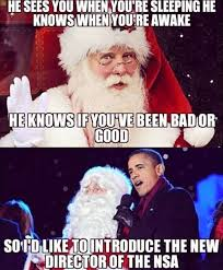 funny santa claus is coming in town