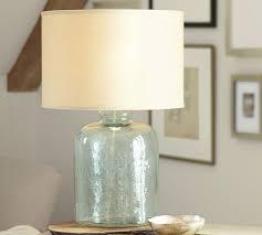 interesting design glass table lamps for living room devin glass table lamp base pottery barn