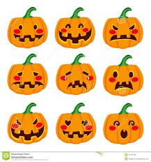 Cool Pumpkin Faces Pumpkin Face Expressions Stock Vector Image 41181188
