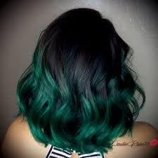 Emerald Green Ombré Hair