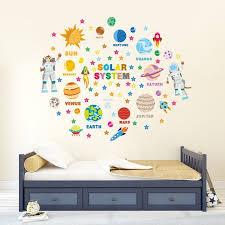 educational solar system adventure wall