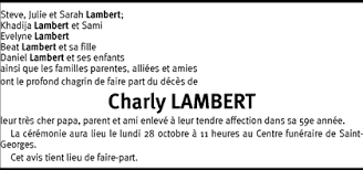 Hommages - Pour que son souvenir demeure: Charly LAMBERT