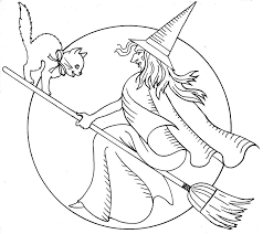 Halloween Witch Coloring Pages Free Jokingartcom Halloween Witch