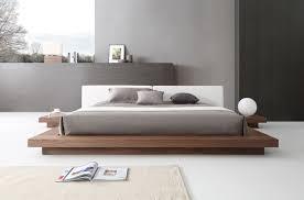white modern platform bed. Modrest Opal Modern Walnut \u0026 White Platform Bed