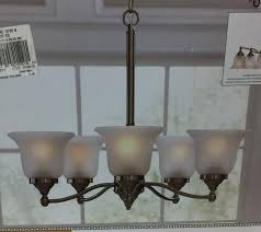 portfolio fd15 093 roseall 5 light nickel etched glass shaded chandelier 759873