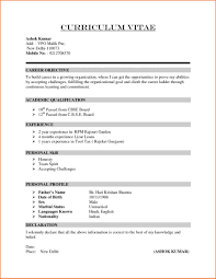 Sample Resume Format For Fresh Graduates Single Page Basic One