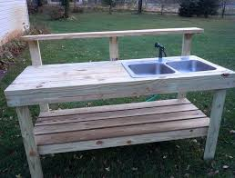 outdoor sink outdoor potting bench with sink plans outdoor camping sink diy
