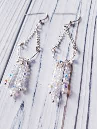 swarovski crystal chandelier earrings wedding crystal earrings bridal earrings long crystal earrings dangle crystal earrings