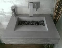 dark gray concrete ada compliant bathroom sink contemporary bathroom