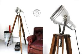 quirky and attractive tripod floor lamp designs with photographers vitage on lighting lamps studio spotlight gallery of pottery barn that give off