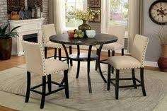 counter height dining table chairs set cm3323rptx50w