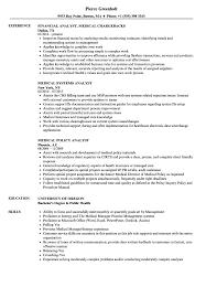 Medical Analyst Resume Samples Velvet Jobs