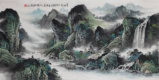 asian chinese painting calligraphy famous watercolor painting artist qin yun landscape painting huge modern wall art collectible in painting calligraphy