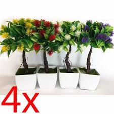 office flower pots. SET OF 4 ARTIFICIAL FLOWER POT 25CM DECORATION HOME PLANT OFFICE BONSAI TREE NEW Office Flower Pots R