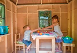 Kids treehouse inside Kids Bed Foldaway Table Internal Bench Hello Wonderful Childrens Garden Tree House Treehouses The Playhouse Company