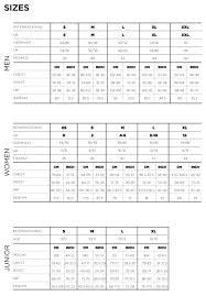 salomon size charts scott clothing size guide