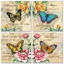beautiful butterfly pictures with quotes.  Pictures Amazoncom 4 Beautiful Butterflies And Flowers Inspirational Quotes  Butterfly Art Prints 12x12 Posters U0026 To Pictures With