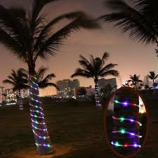 Palm Tree Lights Solar Us 7 54 34 Off 23ft 50 Led Solar Power Tube Lights Strip Waterproof Outdoor Garden Part Rgb Christmas Tree Lights Led Light Fixtures A609 Pml In