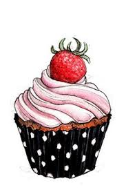 vintage cupcakes drawing. Unique Cupcakes Cupcake 03 Art Print Drawing Drawing Of Cake Painting  Food With Vintage Cupcakes I