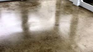 polished concrete screened porch floor