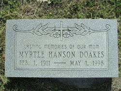 Myrtle Hanson Doakes (1911-1998) - Find A Grave Memorial